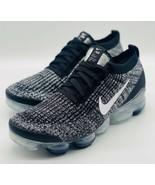 NEW Nike Air Max Vapormax Flyknit 3 Oreo White Black AJ6900-002 Size 10 - $222.74