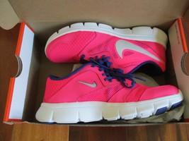 BNIB Nike Flex Experience 3 (GS) Girls Running Sneakers, Hyper pink/roya... - $45.00