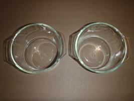 Set of 2 Pyrex Vintage 343 Clear Glass Bowls 1 1/2 Quart Ovenware Casser... - $28.04