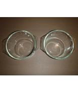 Set of 2 Pyrex Vintage 343 Clear Glass Bowls 1 1/2 Quart Ovenware Casser... - $28.04