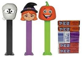 Pez Halloween Candy and Dispenser Set: Mummy, Witch, Pumpkin Dispensers ... - $15.83