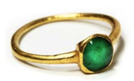 ATOCHA EMERALD GOLD RING 1ct 1622 MEL FISHER SHIPWRECK TREASURE RING w/COA - $25,500.00