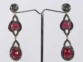 Handmade Stylish Designer Women Long Dangling Oxidized Earrings .925 Ste... - $399.00