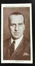 1938 Churchman's Boxing Personalities  #41 C.H. DOUGLAS   - $1.49