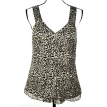 Laundry By Shelli Segal Womens Blouse M Silk Leopard Print Sleeveless Top - $29.99
