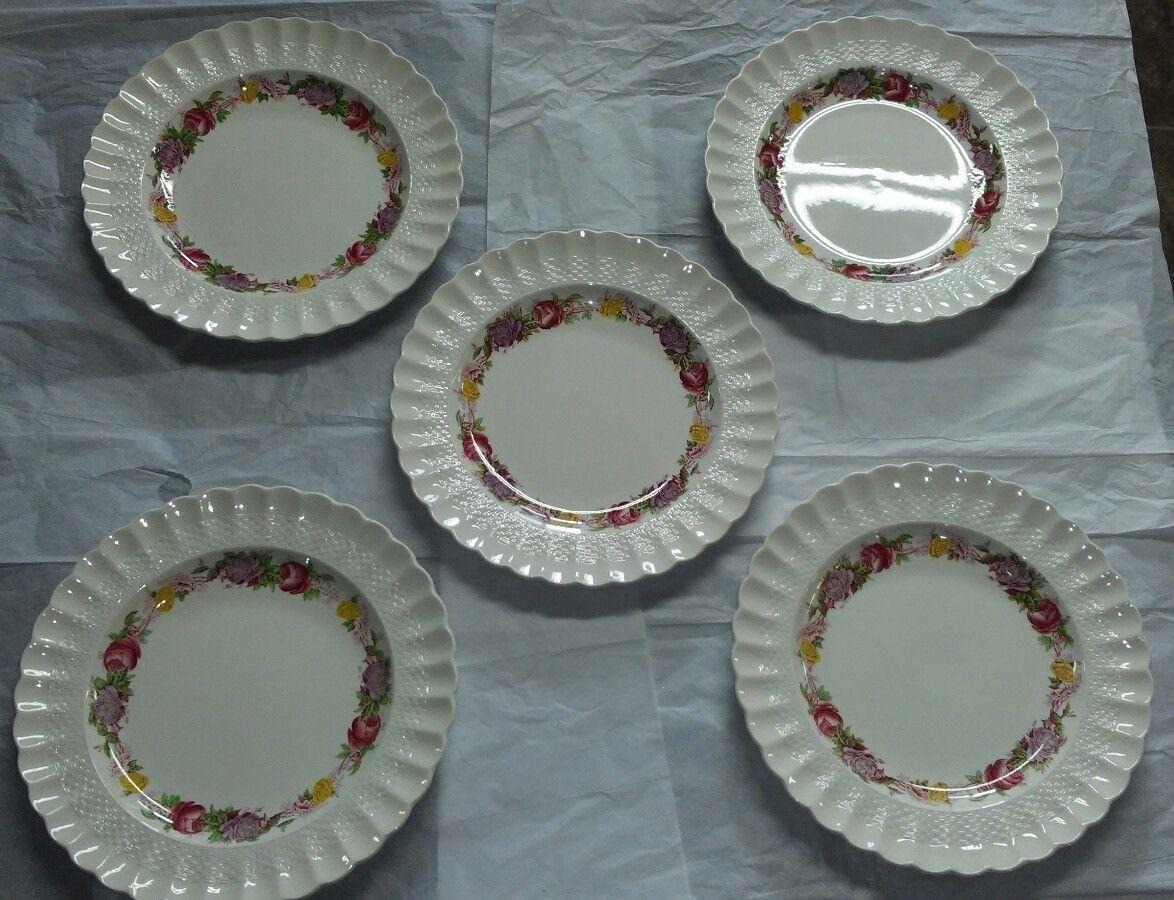 "1 Copeland Spode Rose Briar Dinner Plate 10 1/8"" - $9.74"
