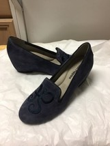 Womens Blue Suede Wedge Hush Puppies Heels Size 6.5 - $26.32