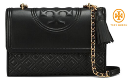 Tory Burch Fleming Large Convertible Shoulder Bag Black 43833  Free Shi... - $235.38