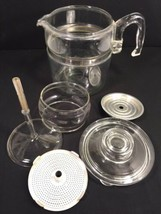 Pyrex Stovetop Percolator 9 Cup Glass Coffee Pot Model 7759B Made In USA - $79.19