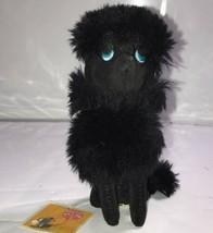 RARE 1966 Kamar Plush Fluffy Stuffed Black Standard Poodle Dog STILL HAS... - $74.79