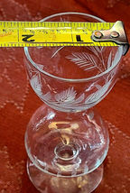Set of 5 HOURGLASS Shaped Etched Glass Stemmed Shot / Layered Liqueur Glasses image 4