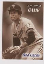 1998 Fleer / SI Legends Rod Carew card, Minnesota Twins HOF - $0.99