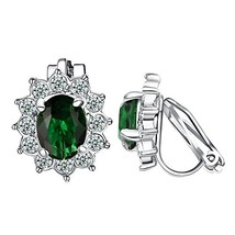 Yoursfs Sparkly Green Crystal Earrings for Girls Fashion Simulation Emer... - $15.65