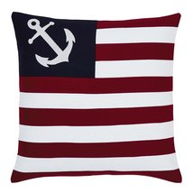 "American Ahoy Pillow - 18""x18"" - VHC Brands - Country Farmhouse"
