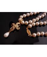 Wedding necklace - Marvella hand knotted Pearl choker - rhinestone remov... - $95.00