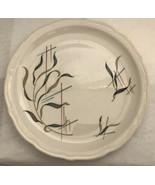 "Syracuse China Crazy Mystery Grass Mid-Century Restaurant 10"" Plate MCM - $23.76"
