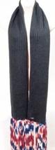 Steve Madden Women Over-The-Top Rib-Knit Scarf Black Fringe One Size MSR... - $16.14