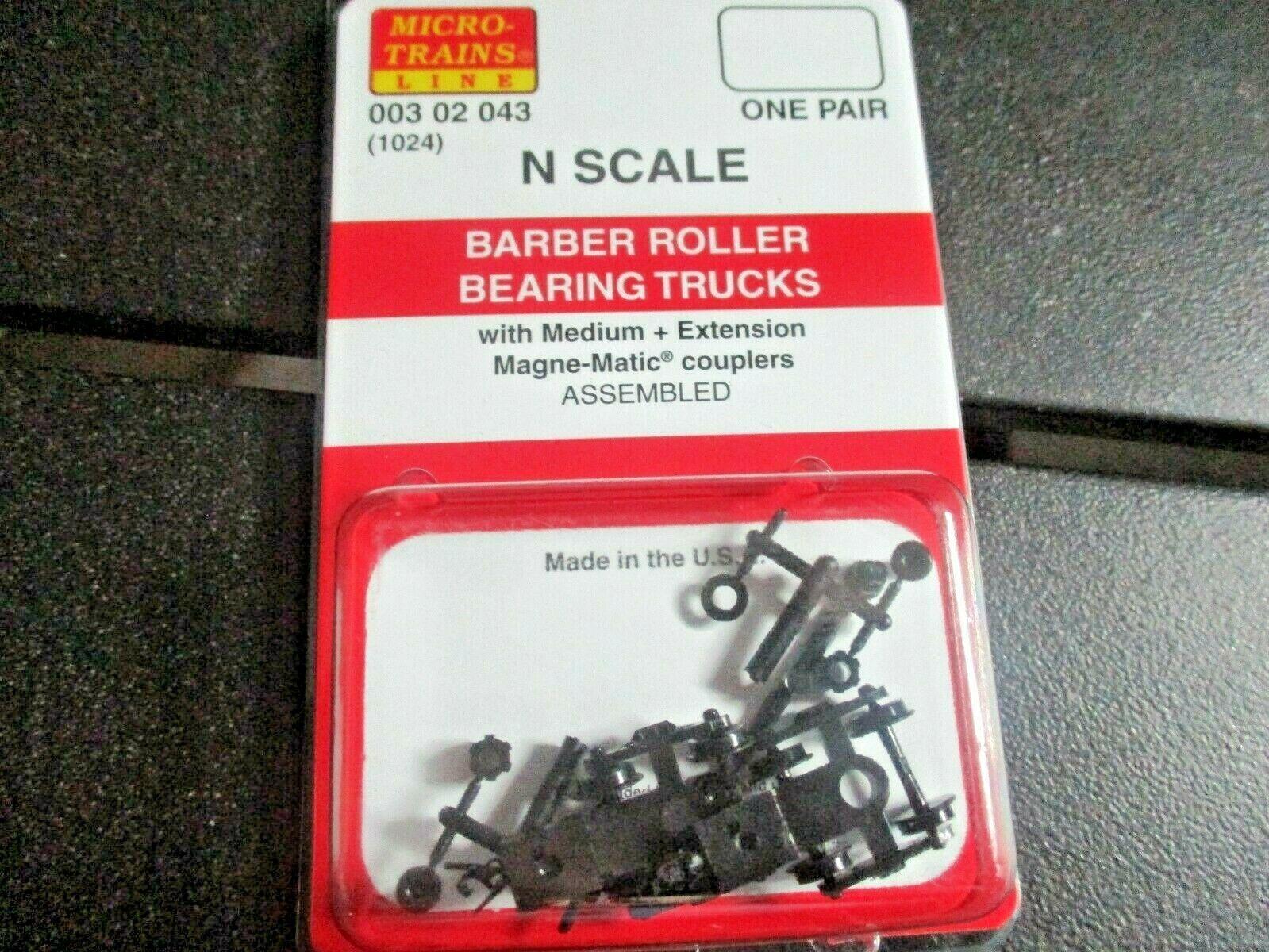 Micro-Trains Stock # 00302043 (1026) Barber Roller Bearing Trucks Medium Ext Cou