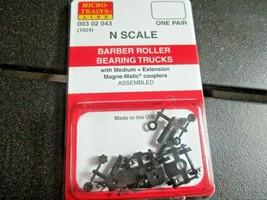 Micro-Trains Stock # 00302043 (1026) Barber Roller Bearing Trucks Medium Ext Cou image 1