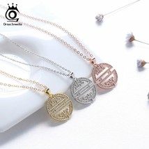 OrsaJewels® Original Necklace Pendant Hollowed AAA CZ Window Pattern Jew... - $8.89