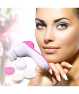 Acne pore scrub electric face brush wash facial cleaner device body care massage 17 thumbtall