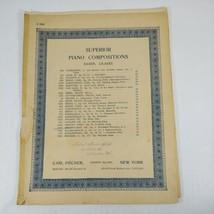 Woodland Whispers Waldesrauschen, F. Braungardt 1912 Sheet Music Carl Fi... - $6.99
