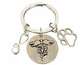 Veterinarian Keychain - Veterinaria Jewelry- Perfect Veterinary Technici... - €9,18 EUR