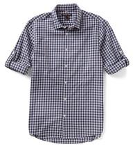New Mens Michael Kors Slim Fit Plaid Cotton Convertible Sleeve Shirt 2XL - $36.99