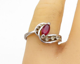 925 Sterling Silver - Vintage Pink Topaz Solitaire Accent Ring Sz 8 - R1... - $26.15