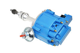 SBF Ford Small Block 351W Windsor HEI Ignition Blue Cap Distributor 65K Coil image 3