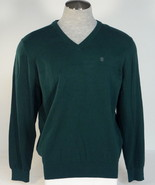 Izod Green V Neck Cotton Long Sleeve Sweater Men's NWT - $48.74