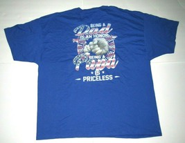 Men's 3XL Shirt Blue Being Dad Honor Being Papa Priceless American Flag ... - $19.26