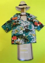 Wine Bottle Cover Celebrate Summer Together Hawaiian Shirt & Hat  NEW Sh... - $15.50