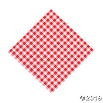 Red Gingham Luncheon Napkins - Tableware & Napkins - $9.11