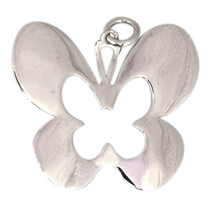 925 Sterling Silver Butterfly Shape Pendant Women - $3.05
