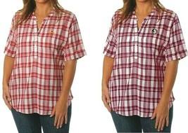 UG Apparal NCAA Women's Plaid Shirt Top Blouse Florida State or Iowa Sta... - $17.95