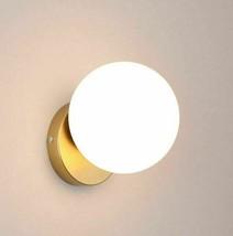 Nordic Wall Light Bedside LED Lamp Modern Staircase Room Golden Glass Ball Hotel - $75.97