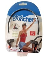 Cord Cruncher Tangle Free Fluorescent Red Orange Headphones As Seen on T... - $29.99
