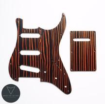 Zebrawood Strat Stratocaster Electric Guitar Pickguard Scratch plate (ra... - $19.79