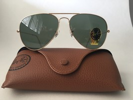 Ray Ban Aviator RB3025 L0205 58mm Sunglasses Gold With G-15 Green Lens - $63.90