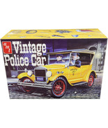 Skill 2 Model Kit 1927 Ford T Vintage Police Car 1/25 Scale Model by AMT... - $56.42