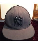 NEW MLB Genuine Merchandise New Era Grey NY Yankee Hat Sz 7 3/4 - $39.99