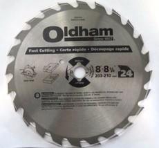 "Oldham B8004524 8"" -8-1/4"" x 24T Carbide Saw Blade Combination BULK - $5.94"
