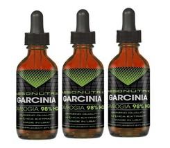Absonutrix Garcinia Cambogia 98% Hca Gotas Suplemento Dietético (Pack de 3) - $34.38