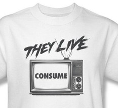 They Live T-shirt Free Shipping retro 1980's horror movie tee Roddy Piper UNI609 image 1
