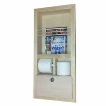 Wood Cabinets Direct Orchard in The Wall Magazine Rack with Double Toile... - $221.54