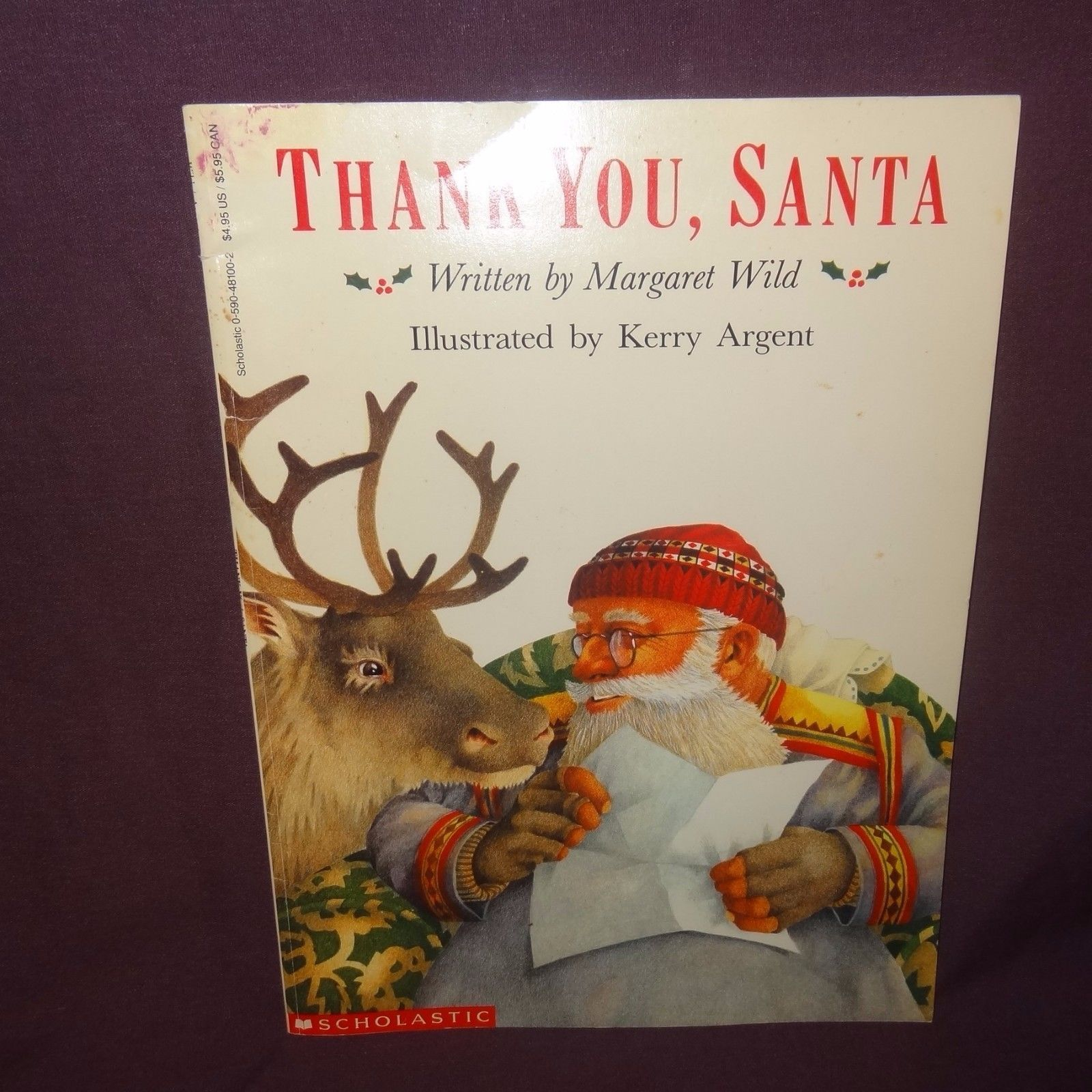 Thank You Santa Paperback Book Childrens 1991 Christmas Scholastic Margaret Wild