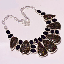 """Watermelon Tourmaline Faceted Amethyst Handmade Jewelry Necklace 17-18"""" ... - $16.38"""