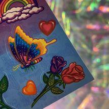 EXCELLENT Condition Vintage 90s Lisa Frank Roses Rainbows Hearts S142 MINT image 4