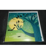 NEW HAPPY HALLOWEEN HAUNTED TREE MOON BATS GLITTER POP-UP 3-D GREETING CARD - $3.70